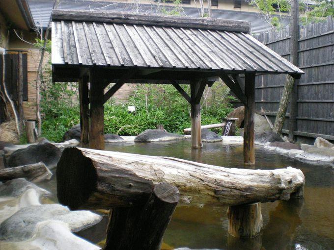 縄文天然温泉を楽しむ