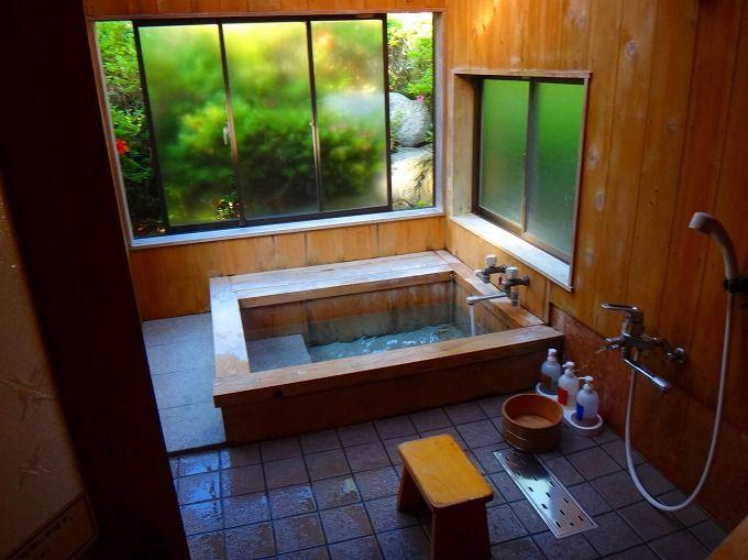 部屋付き温泉はまさに極楽!