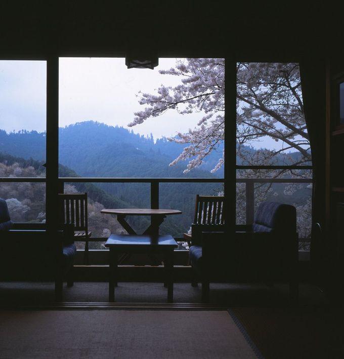 千本桜を見下ろす吉野山の旅館「湯元 宝の家(ほうのや)」