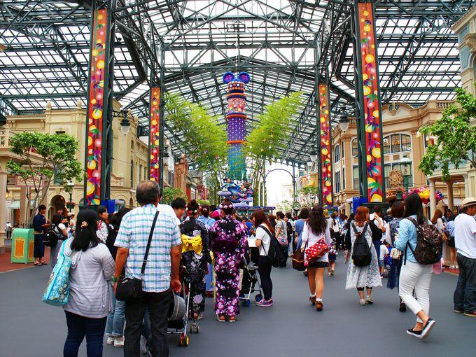 東京ディズニーランドのウィッシングプレイスはワールドバザールのど真ん中!