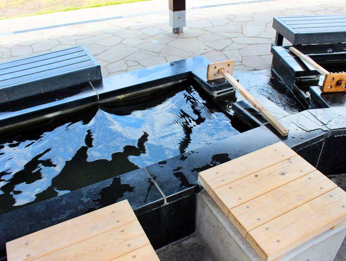 八ッ場ふるさと館の足湯のお湯は、地元向けの共同浴場とここだけ