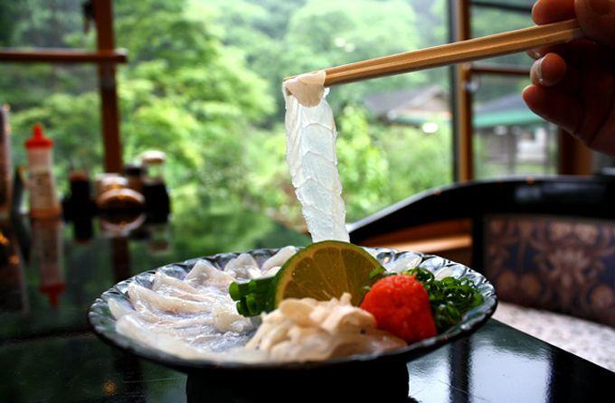 のんびり館グループの温泉フグは美味しくて安全