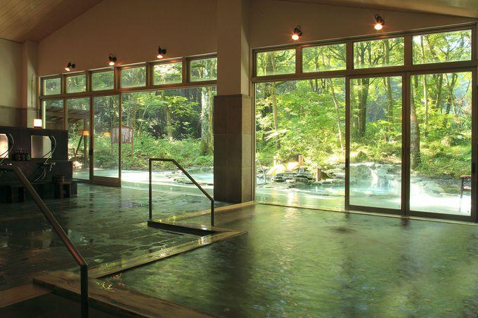 木漏れ日の露天風呂はゆっくり入りたい!