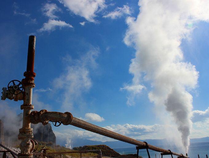 たまて箱温泉の湯上りに山川製塩工場跡散策