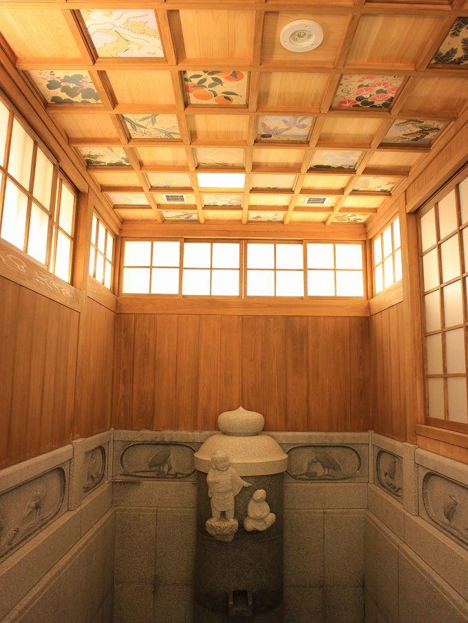 又新殿を再現!予約可能な特別浴室