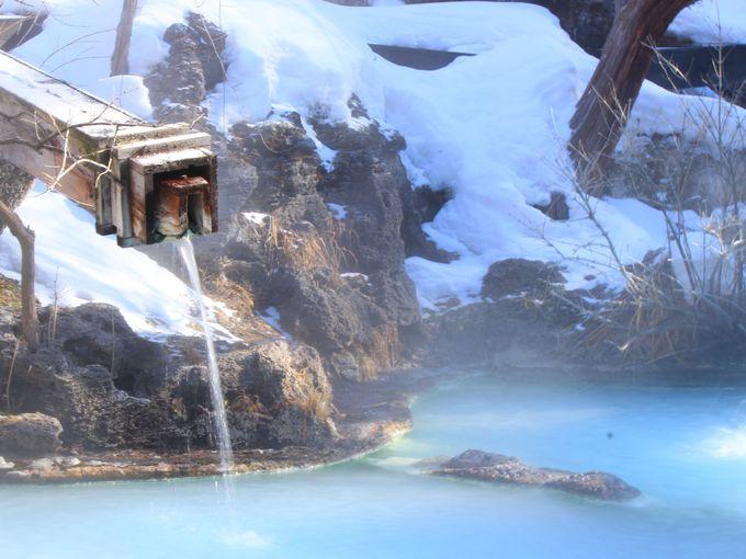 白骨温泉 泡の湯の美しすぎる混浴野天風呂