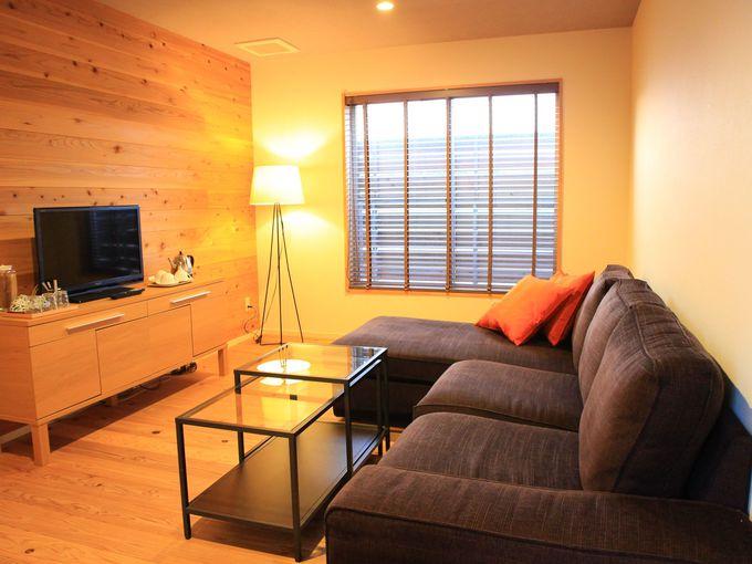 うのしまヴィラの3種類の客室