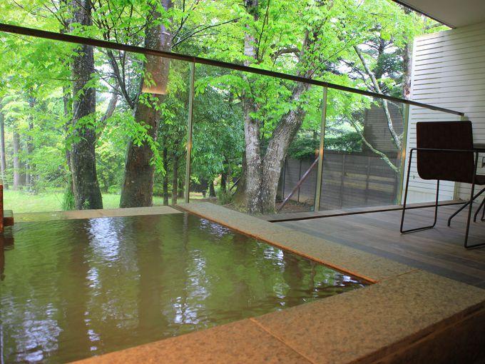 森のレジデンスなら露天風呂付きのお部屋も