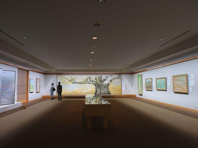 成川美術館には常設展示が無い?