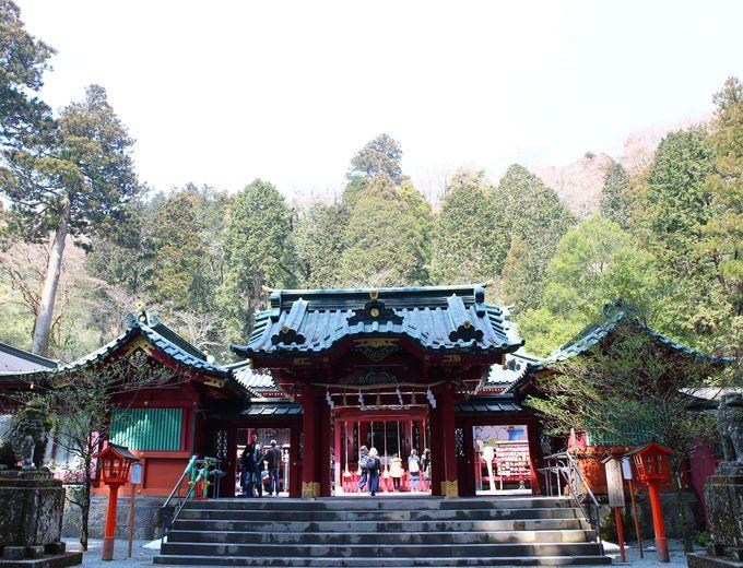 午前9時半:パワースポット箱根神社