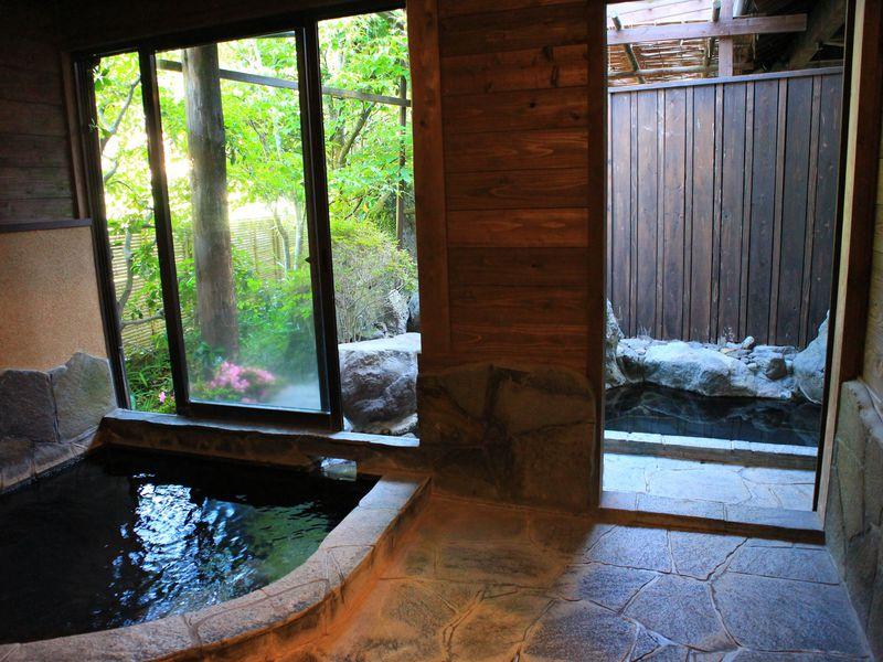 ゆのひら上柳屋の温泉は全て貸切り風呂