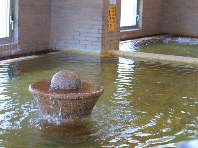 磯部温泉「恵みの湯」の潜るお風呂?