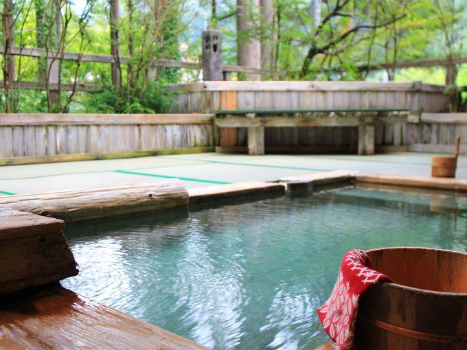 「一里野高原ホテルろあん」の温泉は全て源泉掛け流し