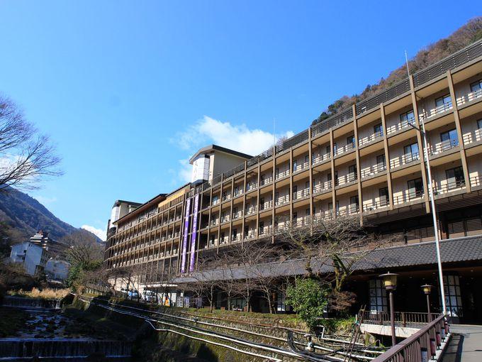 箱根湯本の「天成園」で日帰り温泉の手続き