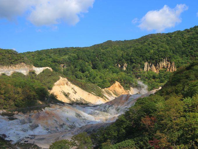 登別温泉地獄谷からすぐの宿「第一滝本館」と「滝本イン」