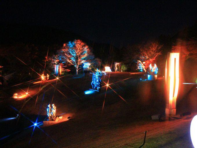 箱根ナイトミュージアムのライトアップの楽しみ方