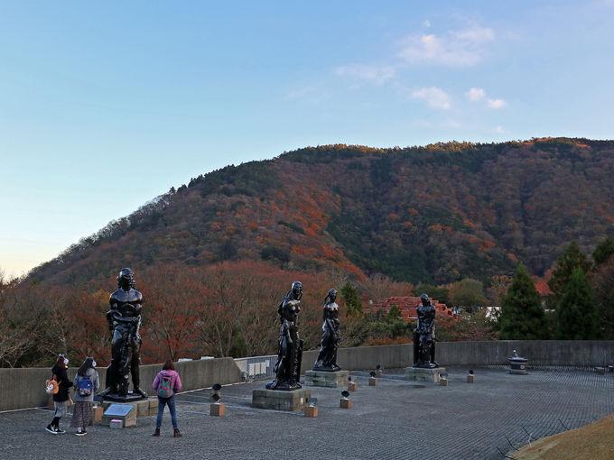 日没前の彫刻の森美術館の見どころ