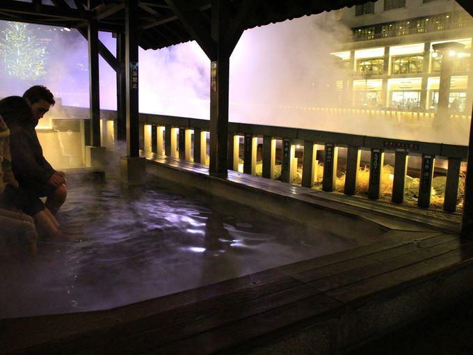 草津温泉のシンボル、湯畑のライティング