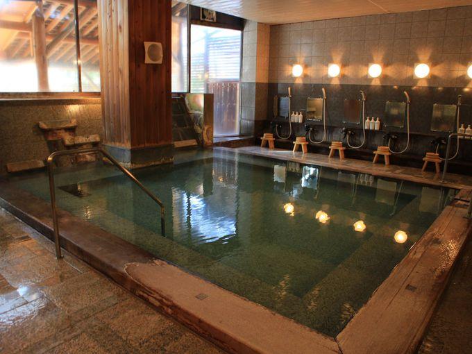 草津ホテルの温泉は西の河原源泉