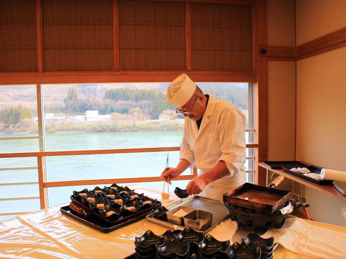 新潟の食が楽しめる「佐取館」の夕食・朝食