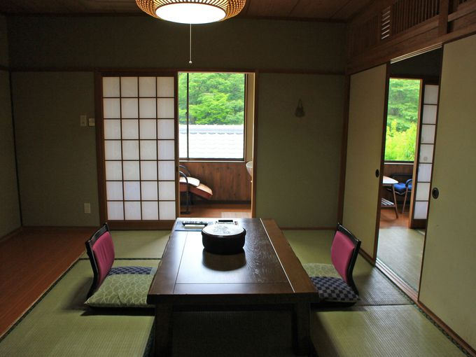 由布岳の見えるお部屋は窓も大きく