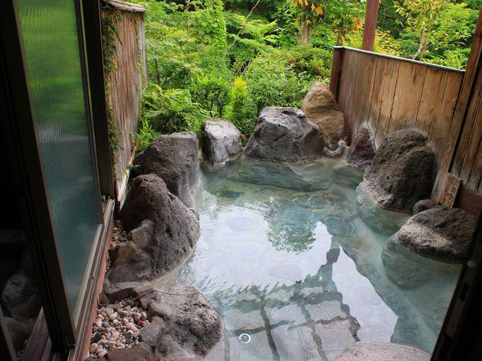 野蒜山荘なら貸切家族風呂が3つも