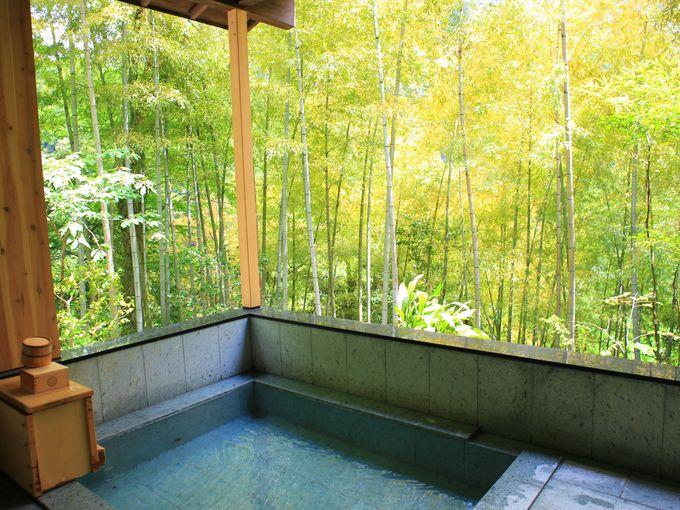 極上温泉の露天風呂は1時間貸切で