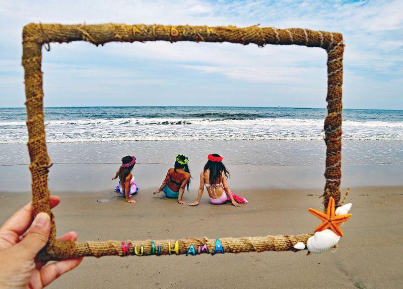 この夏マーメイドに!アートビーチくじはまin日立 久慈浜海水浴場