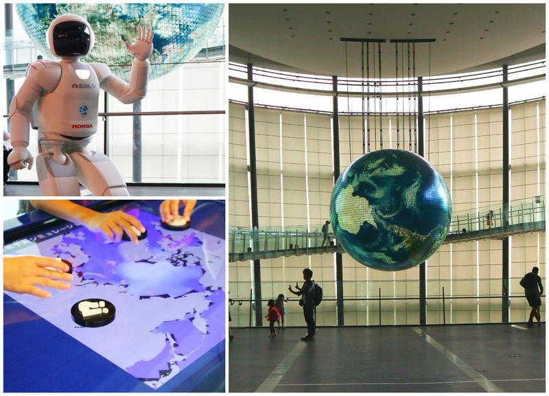 午後は日本科学未来館で学び東京お台場 大江戸温泉物語でのんびり