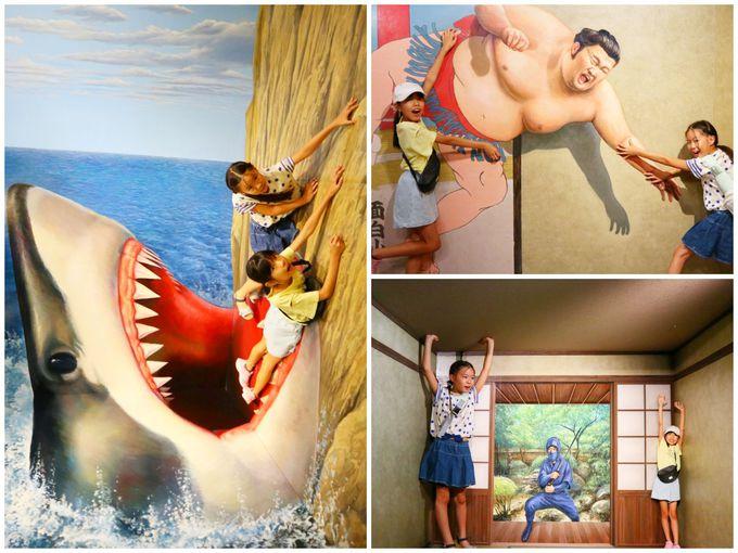 翌日は子連れでお台場観光!トリックアートで遊び、ランチは海賊船で