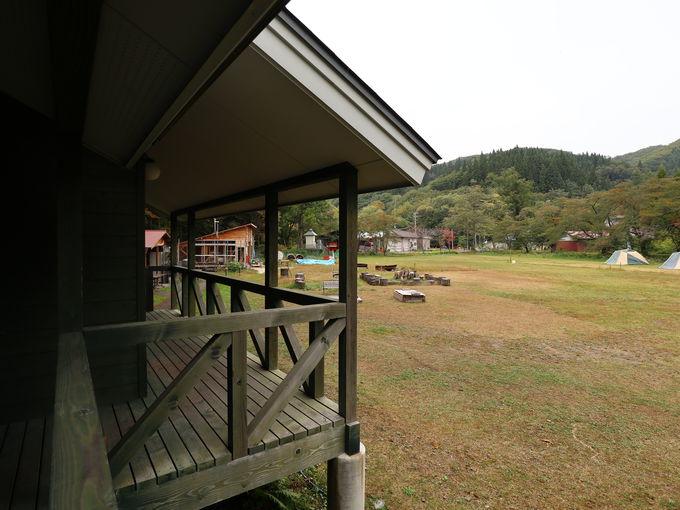 ケビンやテントに泊まれる「中滝ふるさと学舎」
