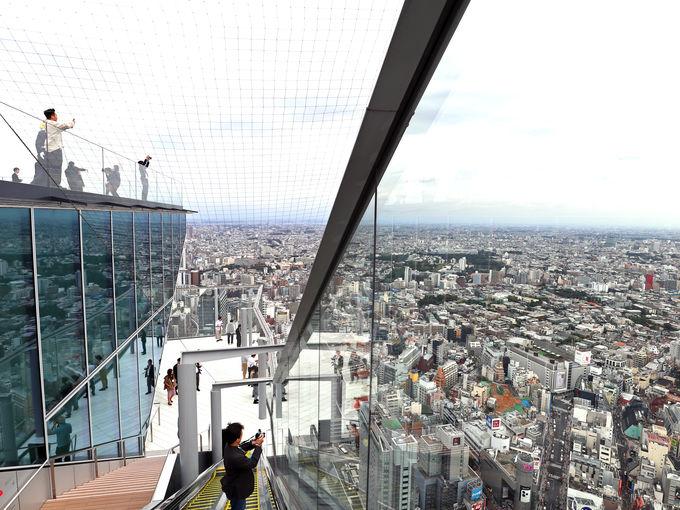 渋谷スカイの都市一望の眺望