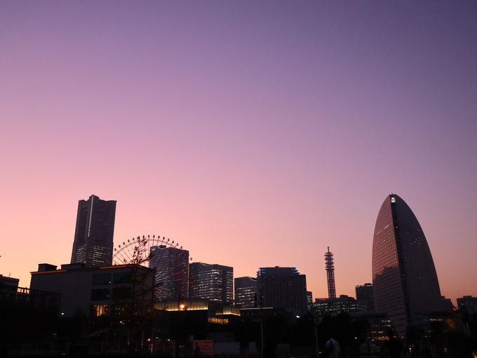 まずは夕暮れの横浜を楽しもう