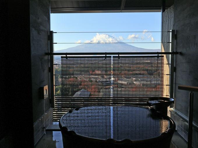 「木の花の湯」は富士山を楽しむのに絶好のロケーション