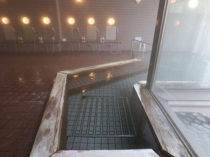 温泉は杣温泉の引き湯、休憩室は持ち込み可