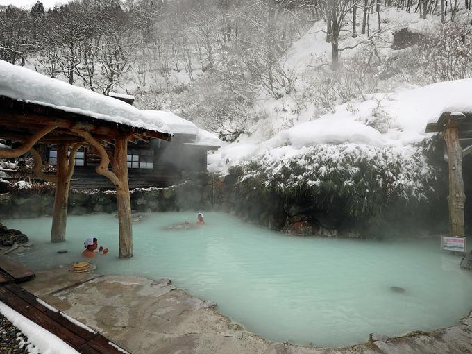混浴露天風呂「鶴の湯」の風情
