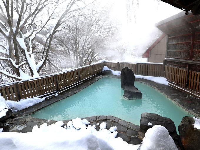 松川温泉 峡雲荘の温泉は濁り湯、混浴も