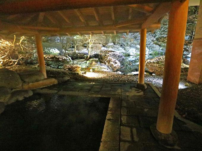 露天風呂からの眺めも美しい「龍門亭千葉旅館」