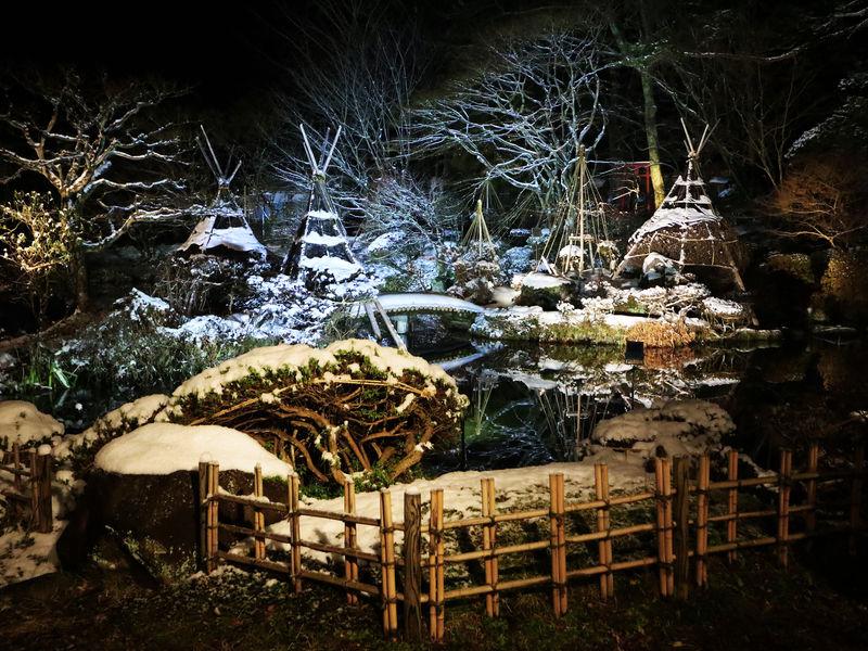 秋田「龍門亭千葉旅館」歴史ある宿で露天風呂から庭園を楽しむ