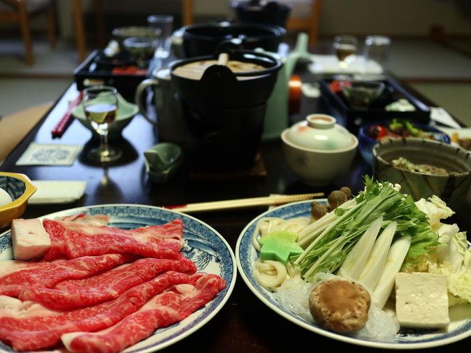 「五感の湯つるや」で食べる蔵王牛