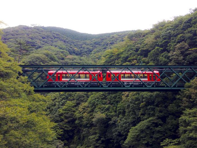 「大平台駅」周辺は鉄橋とスイッチバック