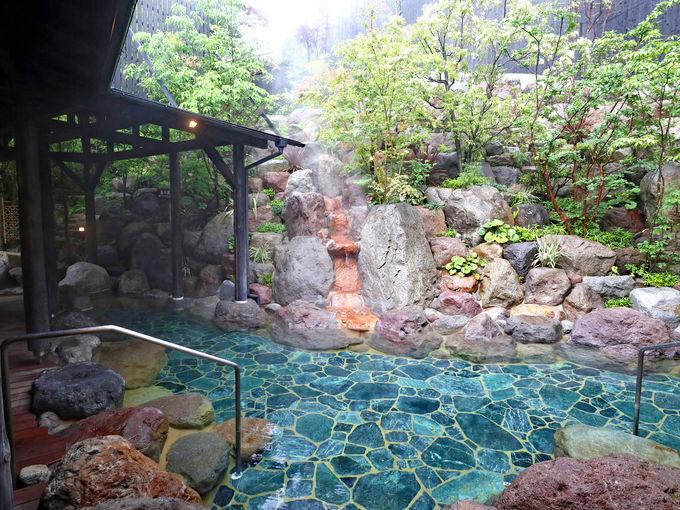 リニューアルした「ひょうたん温泉」のお風呂
