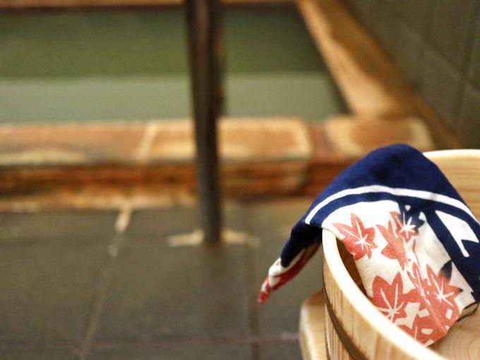 「のがわや旅館」のお風呂は温泉津温泉の源泉をかけ流しで