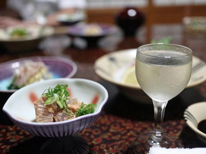 幻の酒米「亀の尾」を使った「亀五郎」を食前酒に