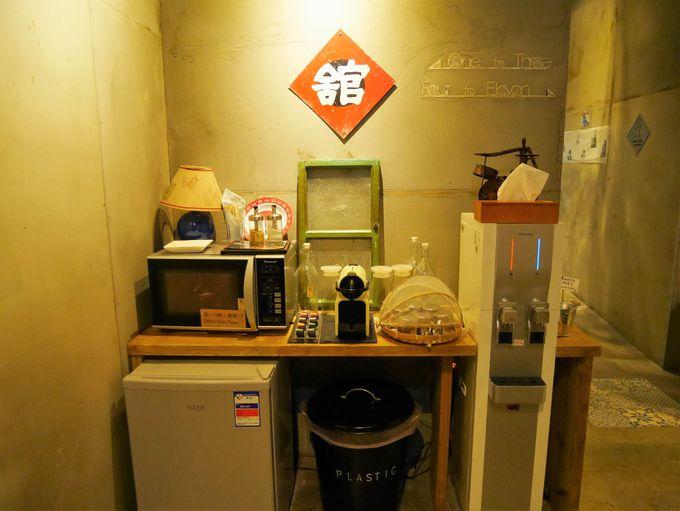 コーヒーや水は24時間フリーサービス