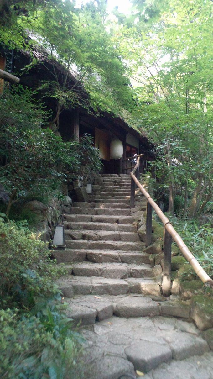 250年前に建てられた庄屋を移築している「黒茶屋」