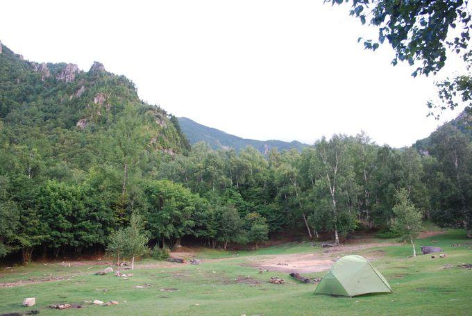 爽やかな景色のキャンプ場で新鮮な空気を吸い込もう
