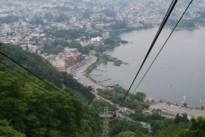 2.カチカチ山ロープウェイ(天上山公園)