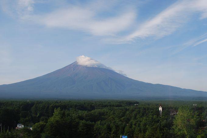 雄大な富士山を眺めながら食べる朝食は格別