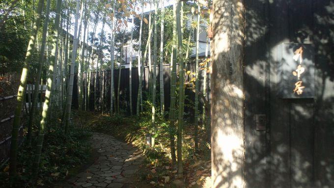 竹林を抜けるとタイムスリップしたような異空間が広がる